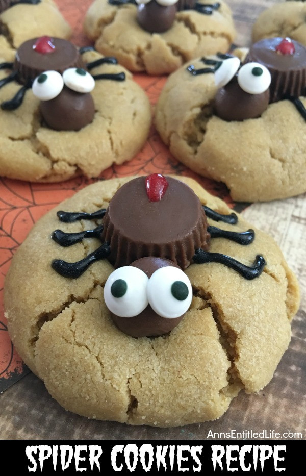 Halloween Cookies Recipe  Spider Cookies Recipe