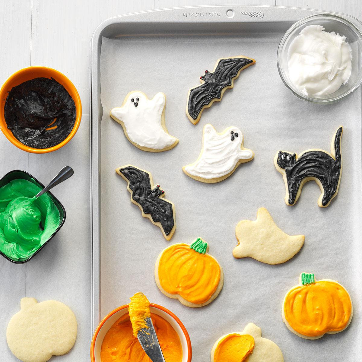 Halloween Cookies Recipe  Halloween Party Cutout Cookies Recipe