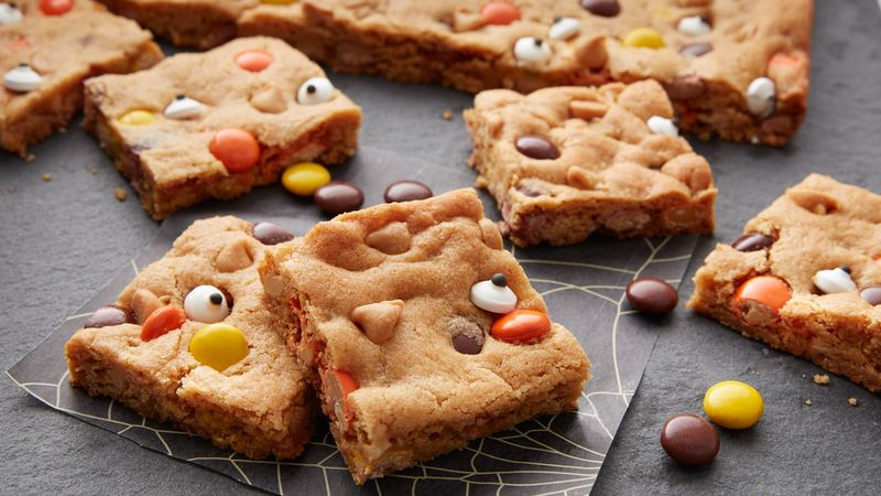 Halloween Cookies Recipe  Reese's™ Pieces™ Halloween Cookie Bars Recipe