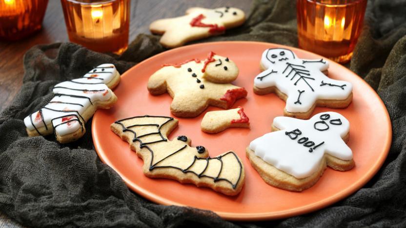 Halloween Cookies Recipes  Scary Halloween cookies recipe BBC Food