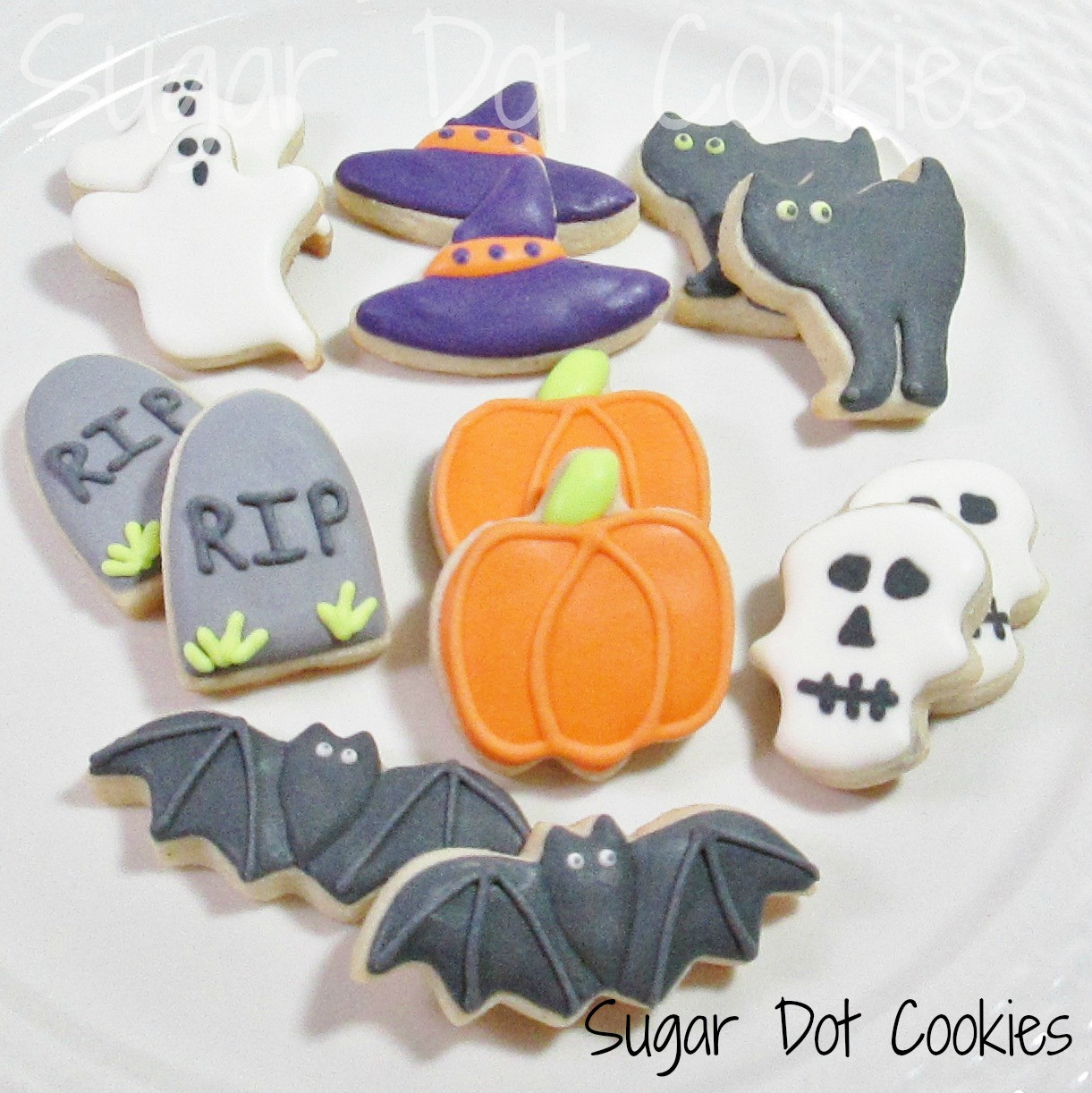 Halloween Cookies Royal Icing  These were super fun Monster cupcakes Ha I got the