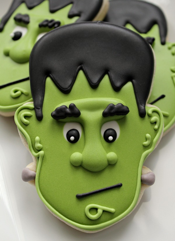 Halloween Cookies Royal Icing  Bright and Spooky Halloween Green Icing – The Sweet
