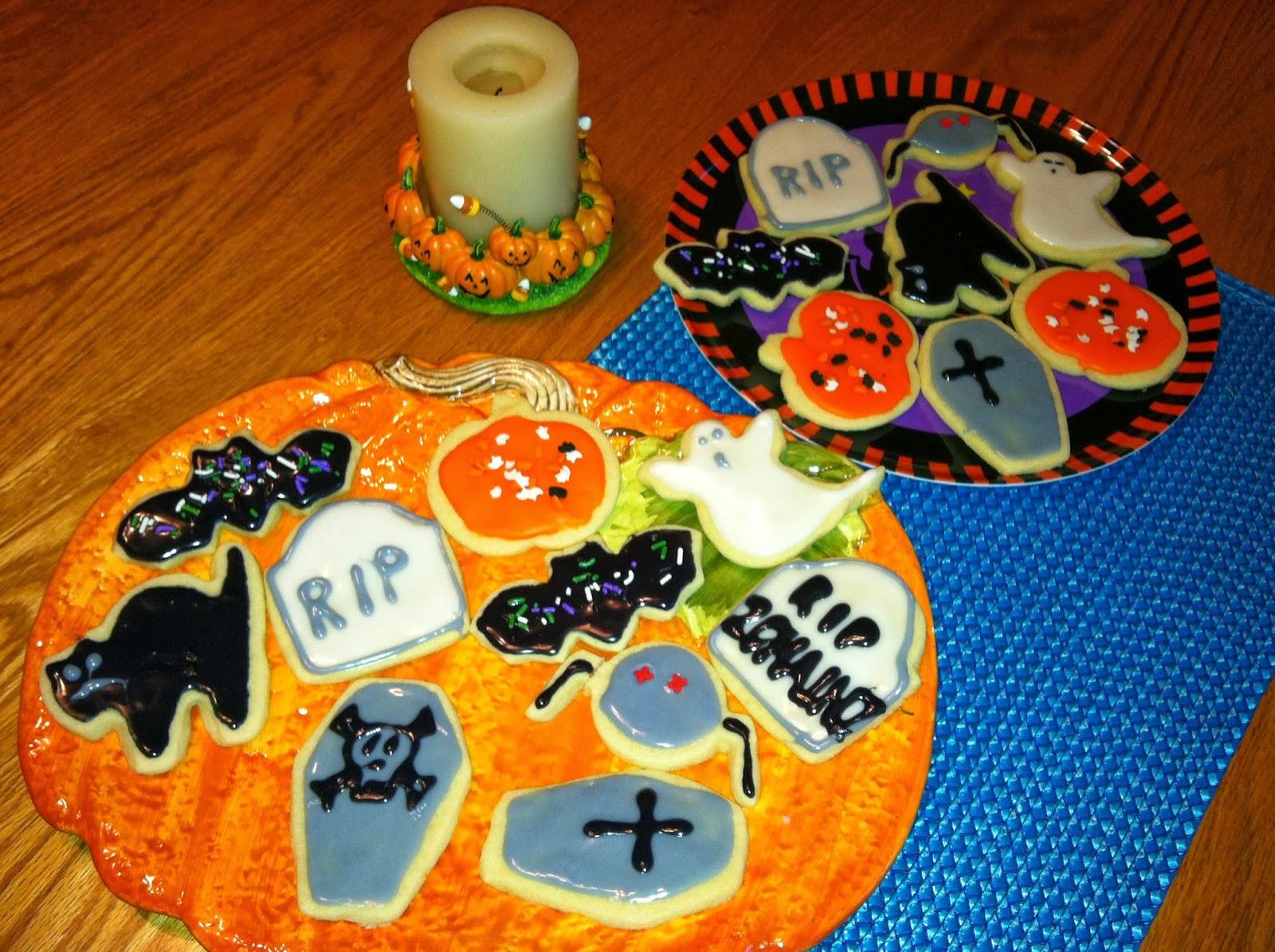 Halloween Cookies Royal Icing  Melanie s Minnesota Morsels Halloween Cookies with Royal