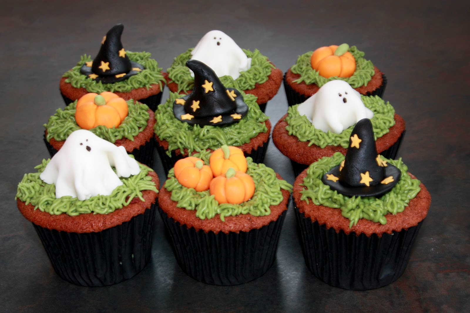 Halloween Cupcakes Cakes  The Cake Trail Halloween Red Velvet cupcakes