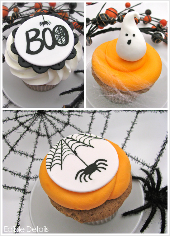Halloween Cupcakes Decorations  Spook tacular Halloween Cupcake Toppers