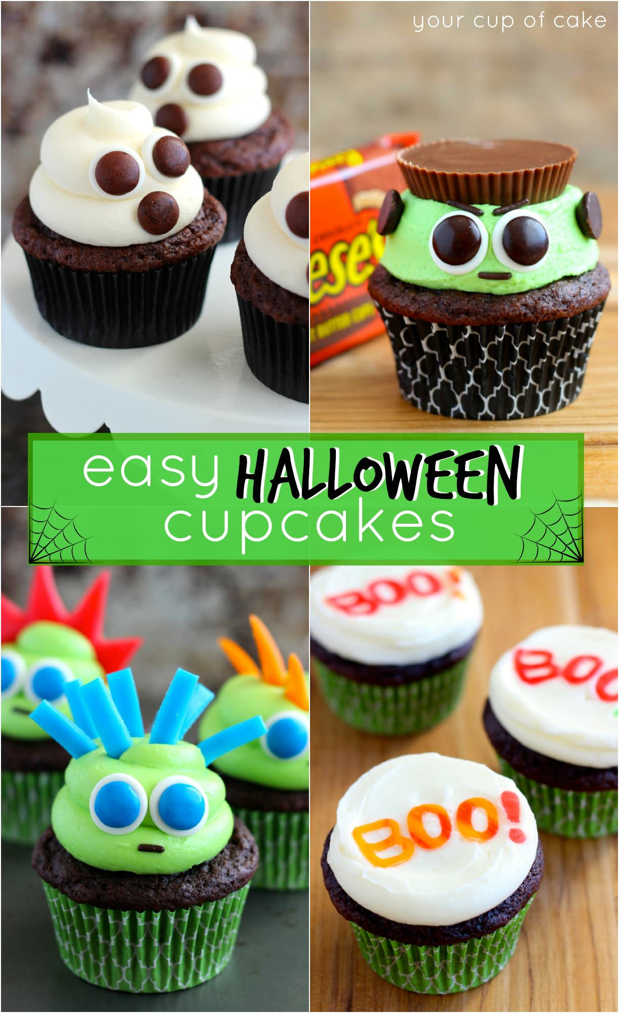 Halloween Cupcakes Designs  Easy Halloween Cupcake Ideas Your Cup of Cake
