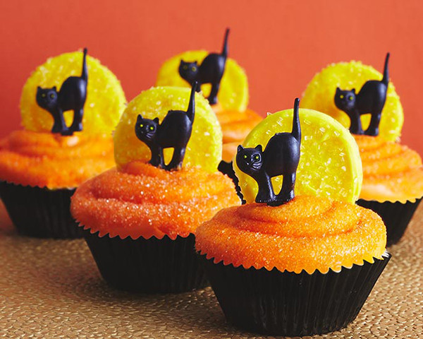 Halloween Cupcakes Images  Black Cat Cupcakes