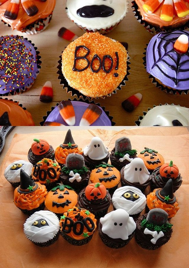 Halloween Cupcakes Images  Best 25 Halloween cupcakes decoration ideas on Pinterest