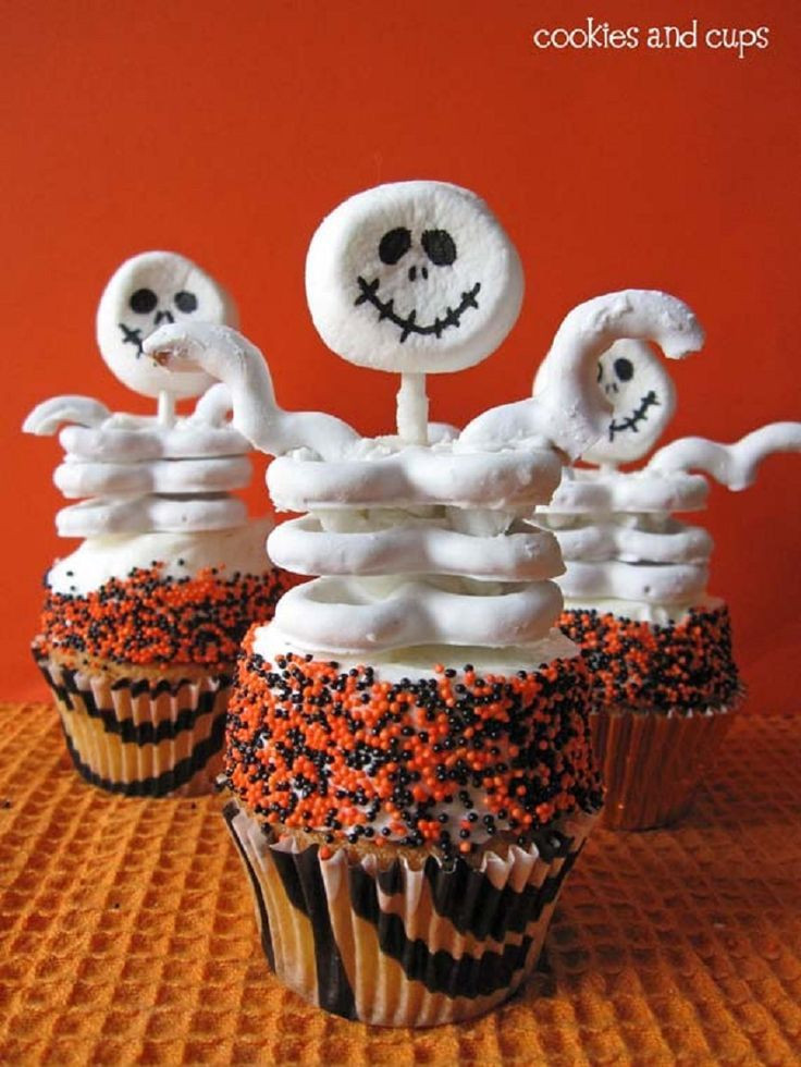 Halloween Cupcakes Pinterest  Halloween Skeleton Cupcakes LittleSassyCakes