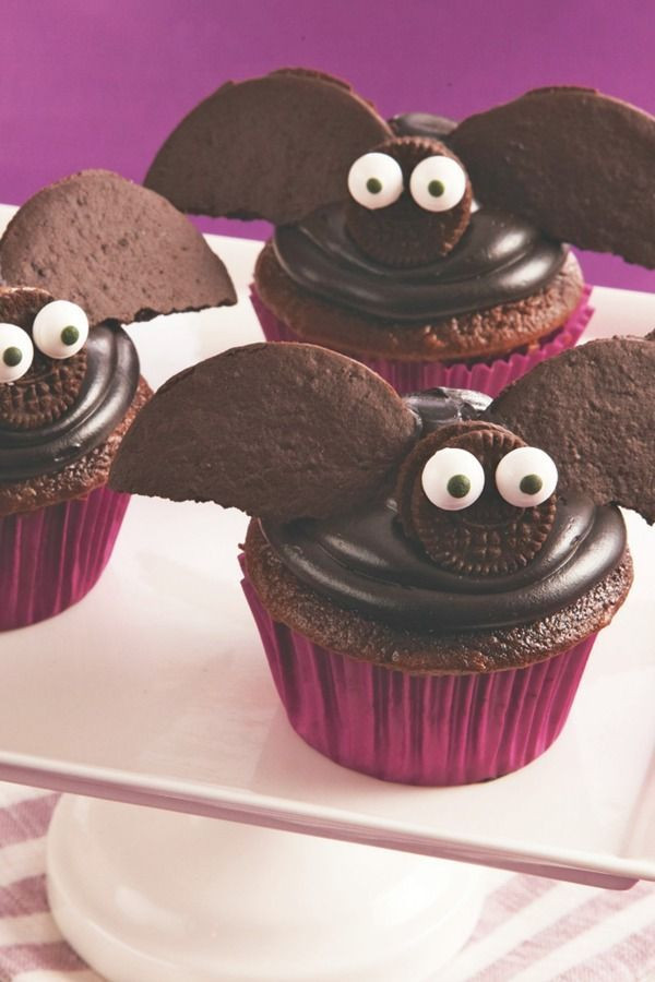 Halloween Cupcakes Pinterest  Halloween Bat Cupcakes Recipe