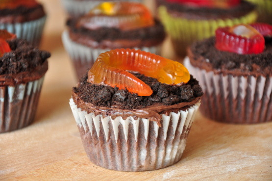 Halloween Cupcakes Recipe  Easy Halloween Worm Cupcakes Recipe Genius Kitchen