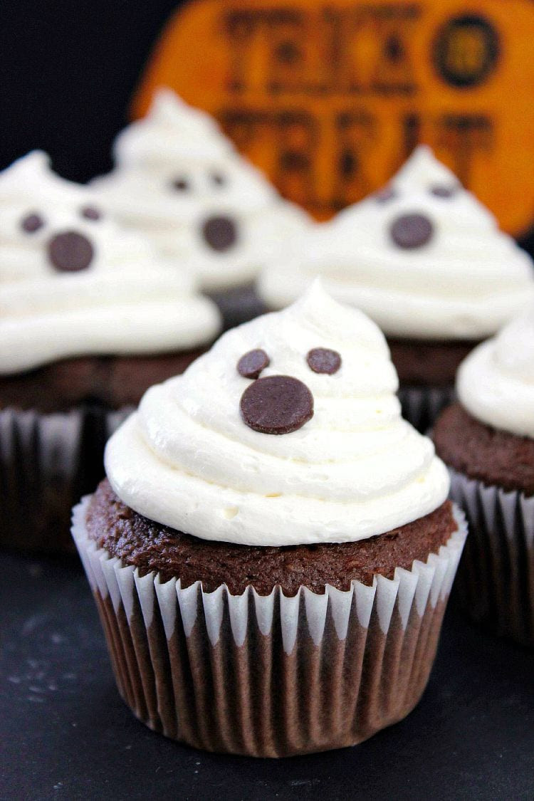Halloween Cupcakes Recipe  Halloween Ghost Cupcakes Recipe