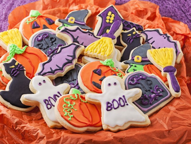 Halloween Cut Out Cookies  Halloween Cut Out Cookies Recipe