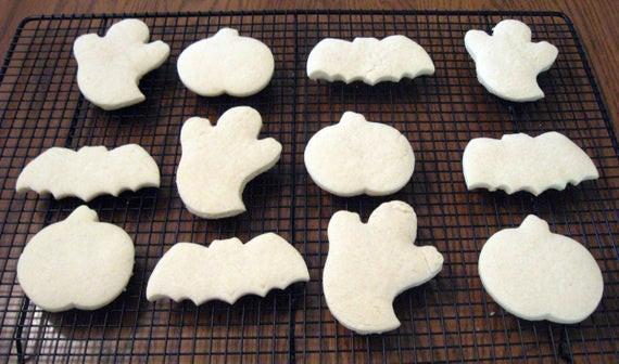 Halloween Cut Out Cookies  Halloween Cookies Cut Out Cookies Ghost Cookies Bat
