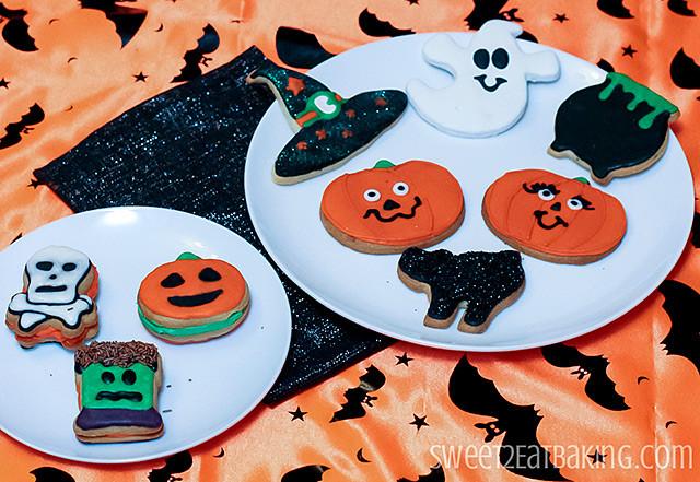 Halloween Cutout Cookies  Halloween Decorated Sugar Cookies
