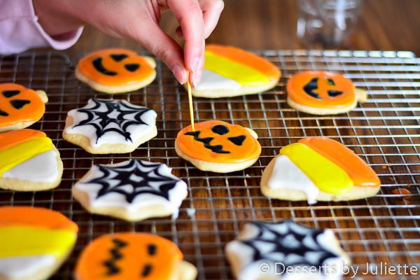 Halloween Cutout Cookies  Halloween sugar cookie spiderweb cutout 7479