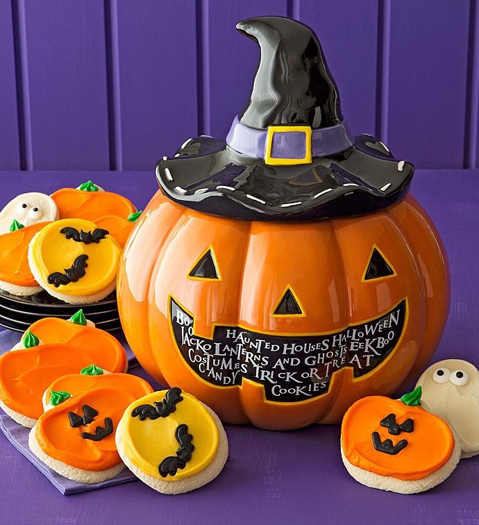 Halloween Cutout Cookies  Halloween Cookie Jar Cutout Cookies