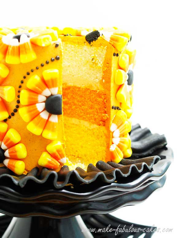 Halloween Decorated Cakes  Halloween Cake Decorating a Candy Corn Cake