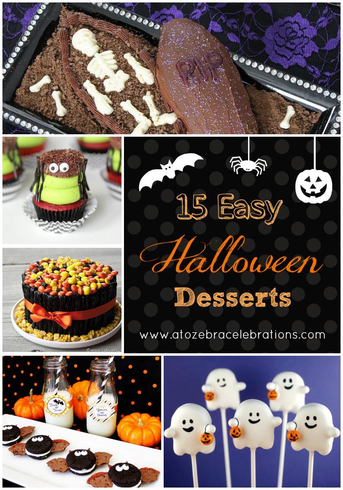 Halloween Desserts Easy  15 Easy Halloween Desserts – A to Zebra Celebrations