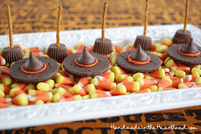 Halloween Desserts For Adults  Easy Candy Witch Hats & Broomsticks