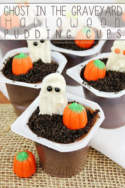 Halloween Desserts For Kids  Ghost in the Graveyard Halloween Snack Pack Pudding Cups