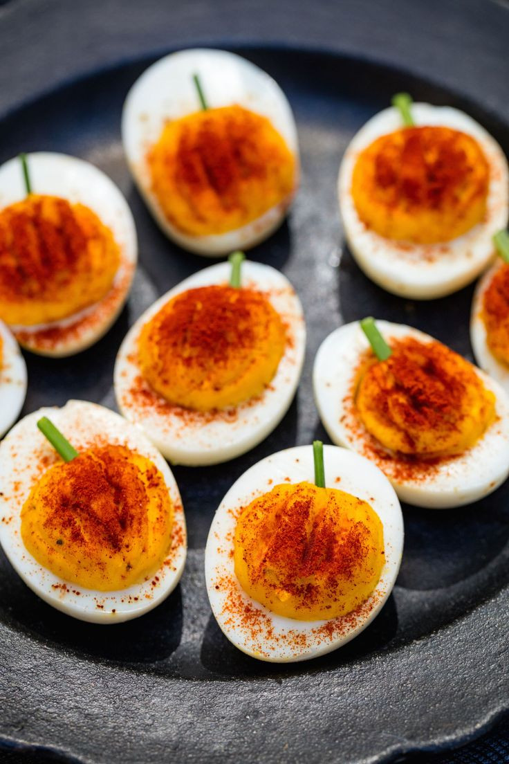 Halloween Deviled Eggs Recipes  32 Spooky Eats For A Grown Up Halloween Party