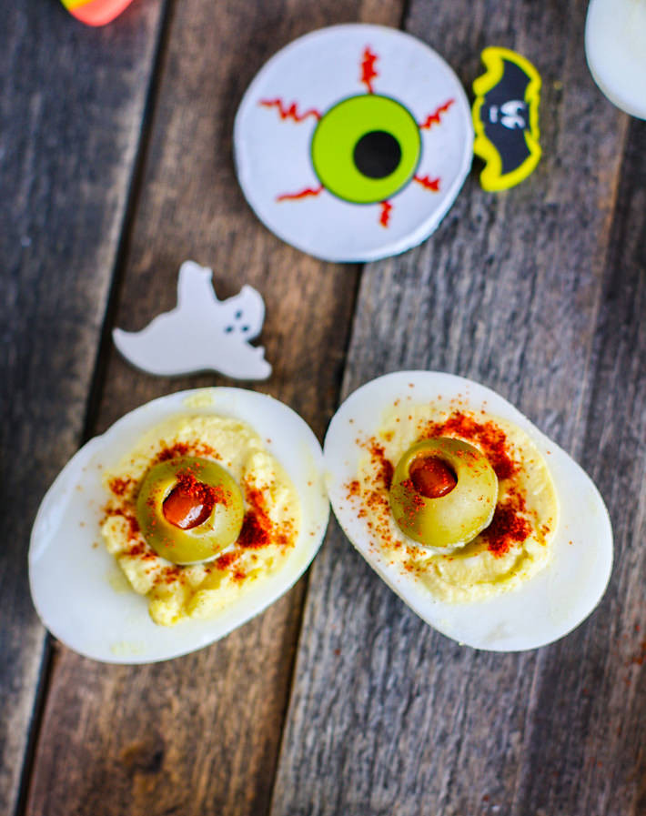 Halloween Deviled Eggs Recipes  Paleo Deviled Egg Eyeballs and Spooky Snacks