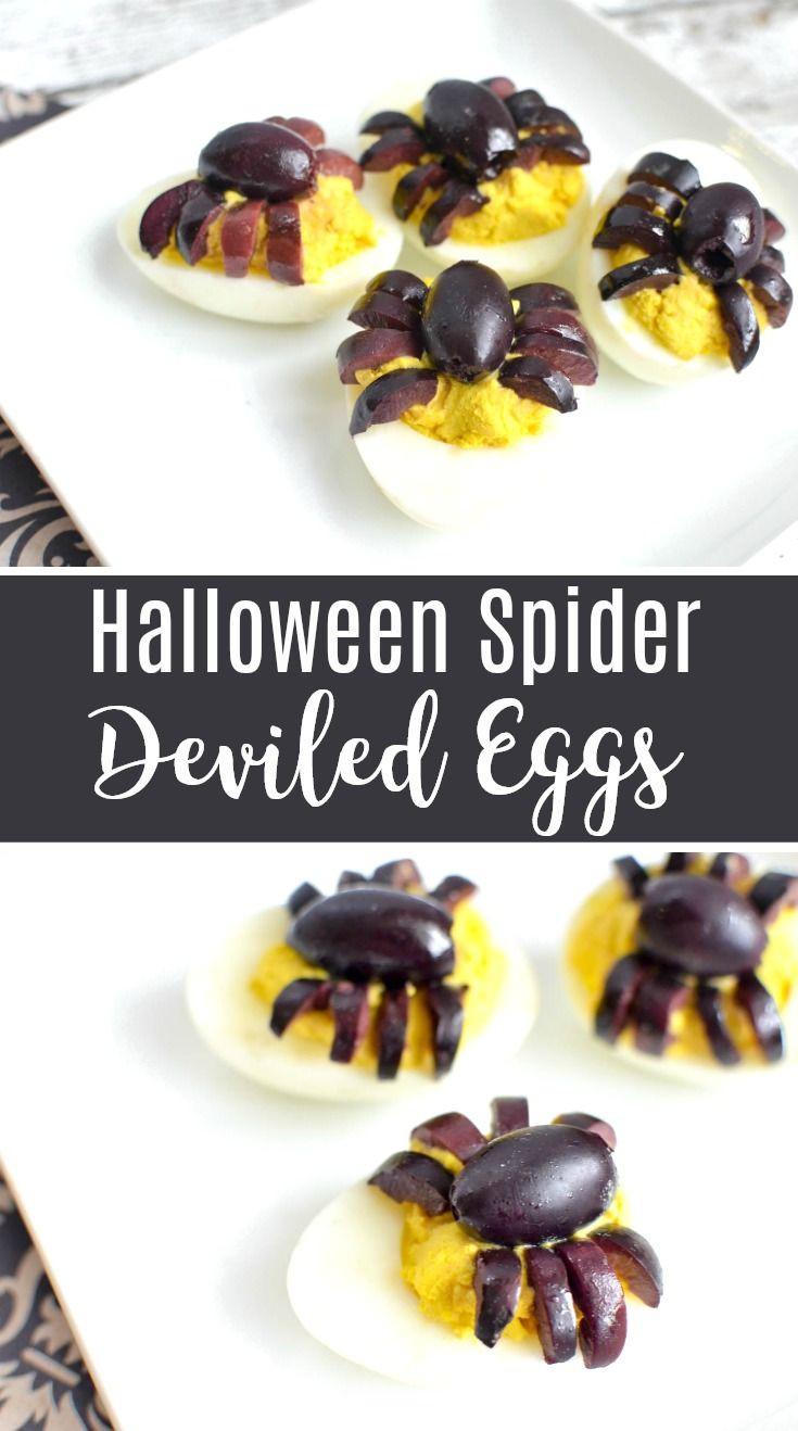 Halloween Deviled Eggs Spider  Best 25 Halloween deviled eggs ideas on Pinterest