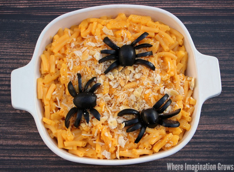 Halloween Dinner Ideas For Kids  Spider Macaroni & Cheese for a Spooky Halloween Dinner