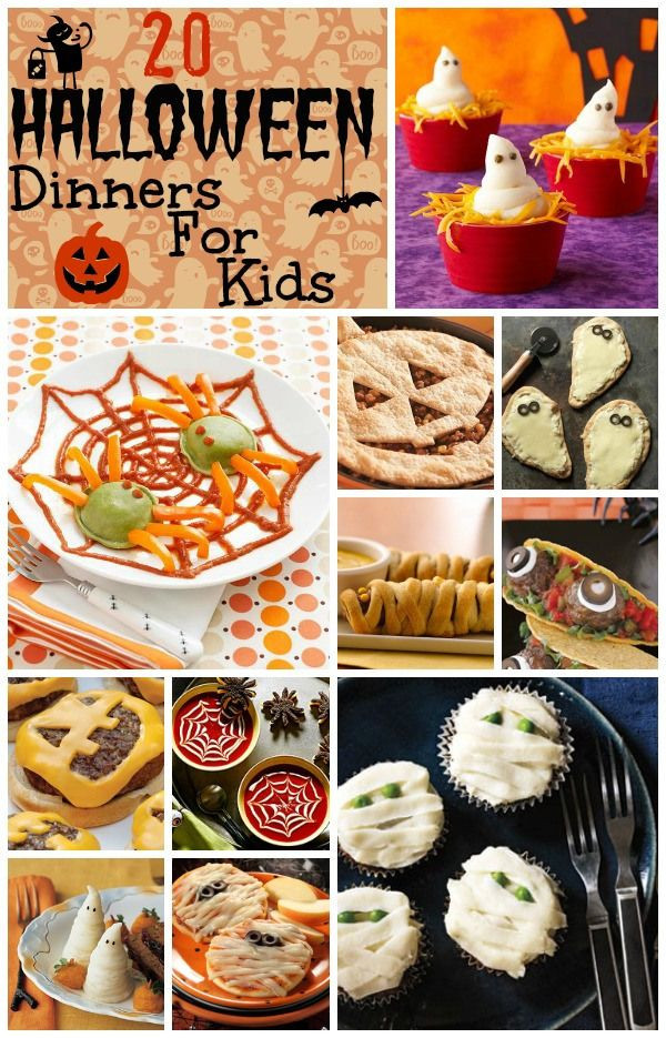 Halloween Dinner Ideas For Kids  17 Best ideas about Halloween Dinner on Pinterest
