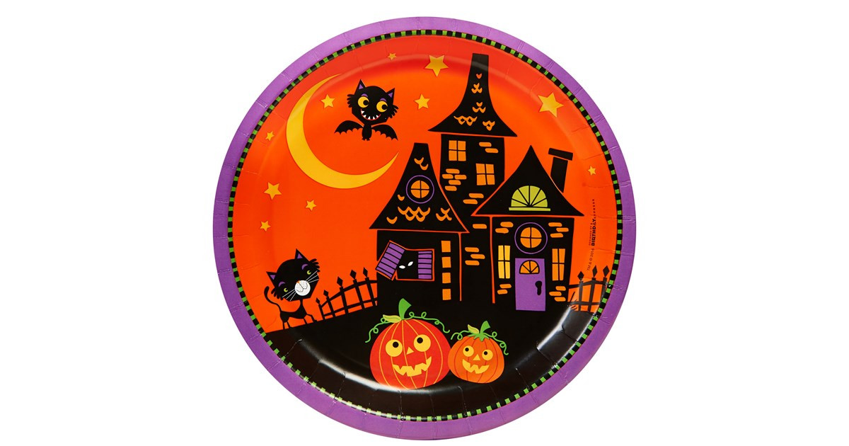 Halloween Dinner Plates  Trick or Treat Halloween Dinner Plates 8