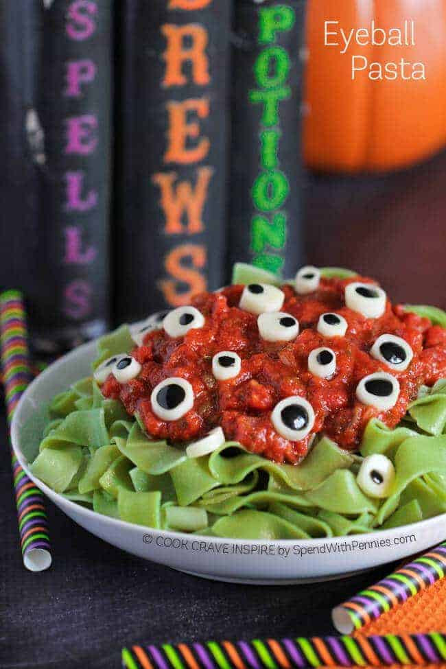 Halloween Dinner Recipes  Eyeball Pasta Halloween Dinner Idea Spend With Pennies