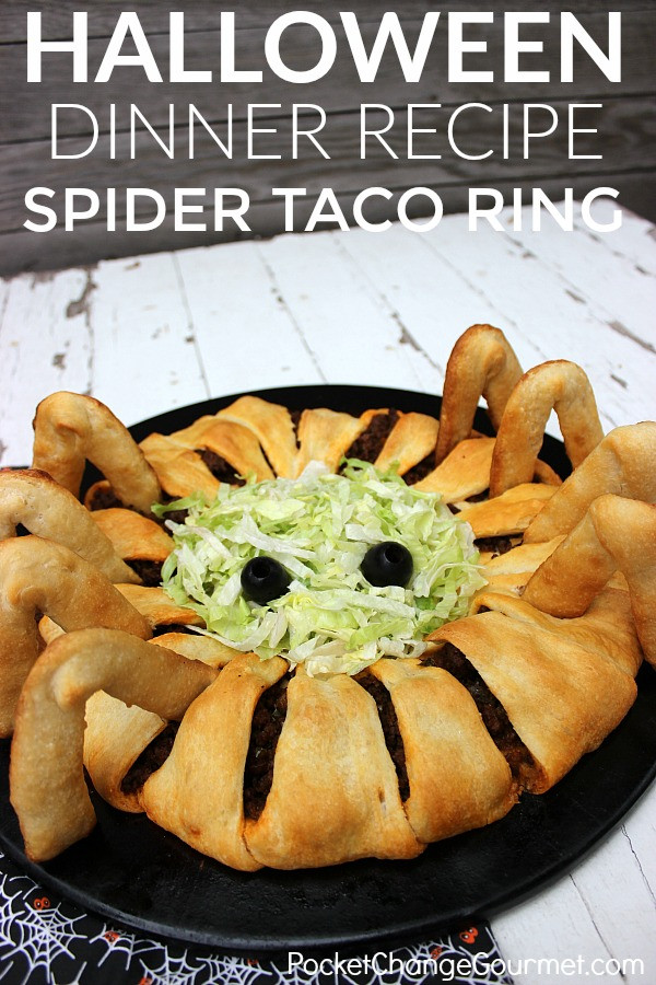Halloween Dinner Recipes With Pictures  Fun Halloween Food Idea for Kids Spider Taco Ring Recipe