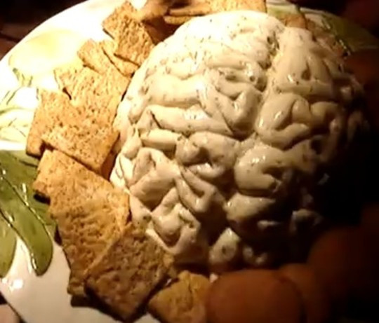 Halloween Dips And Spreads  Kennys Brain Spread Recipe Food