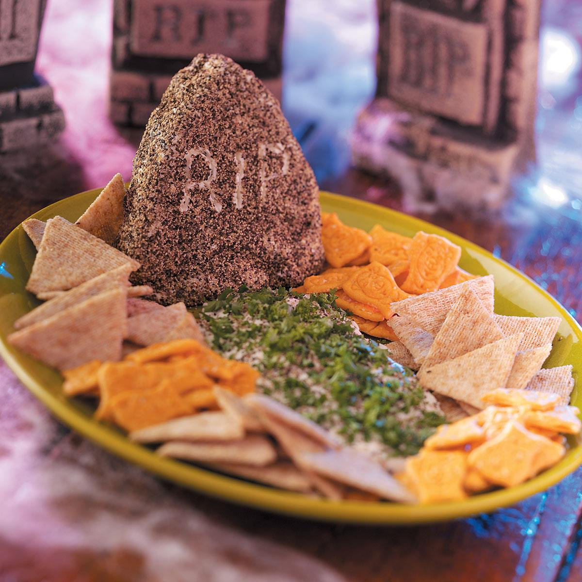 Halloween Dips And Spreads  Peppered Tombstone Spread Recipe