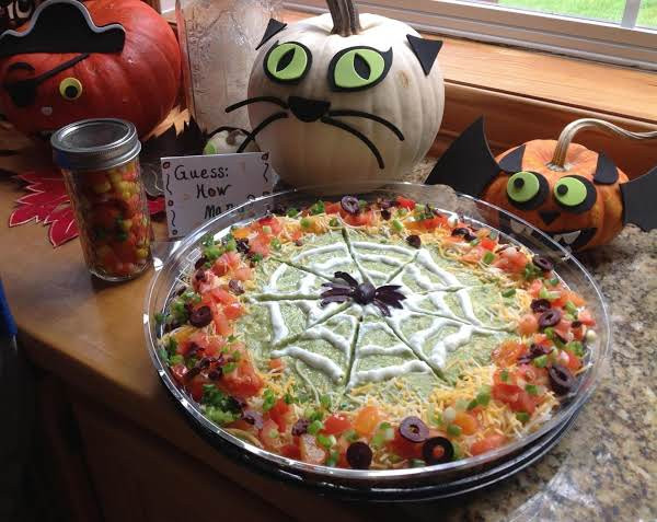 Halloween Dips And Spreads  Halloween 7 Layer Bean Dip Recipe