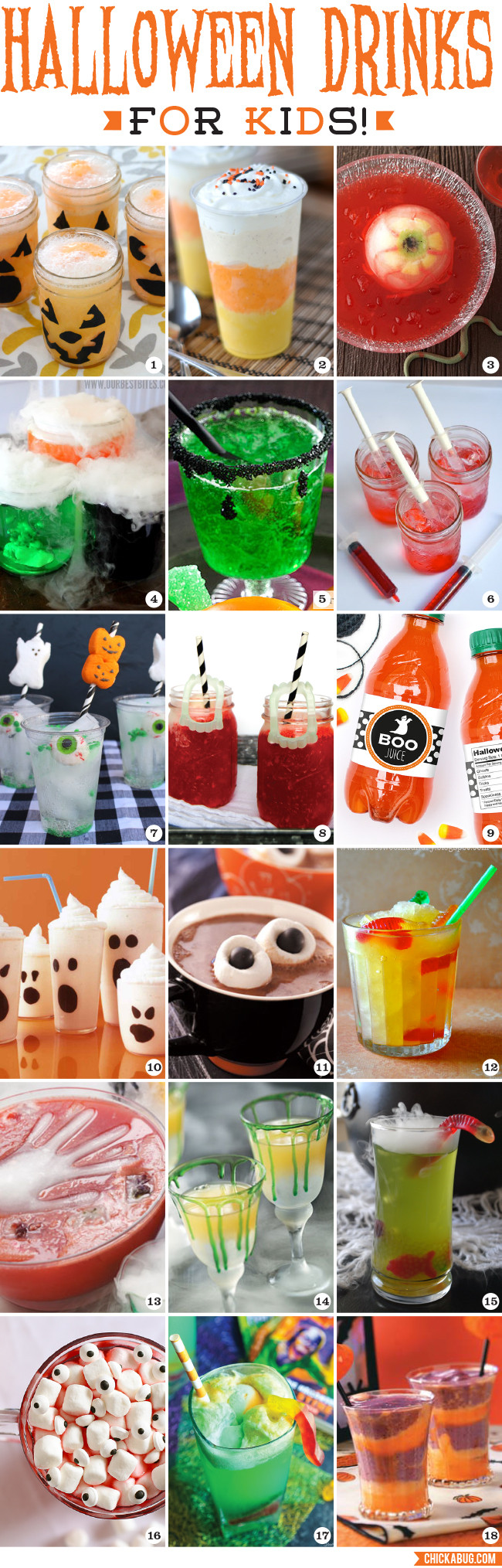 Halloween Drinks For Kids  Halloween Drinks for Kids