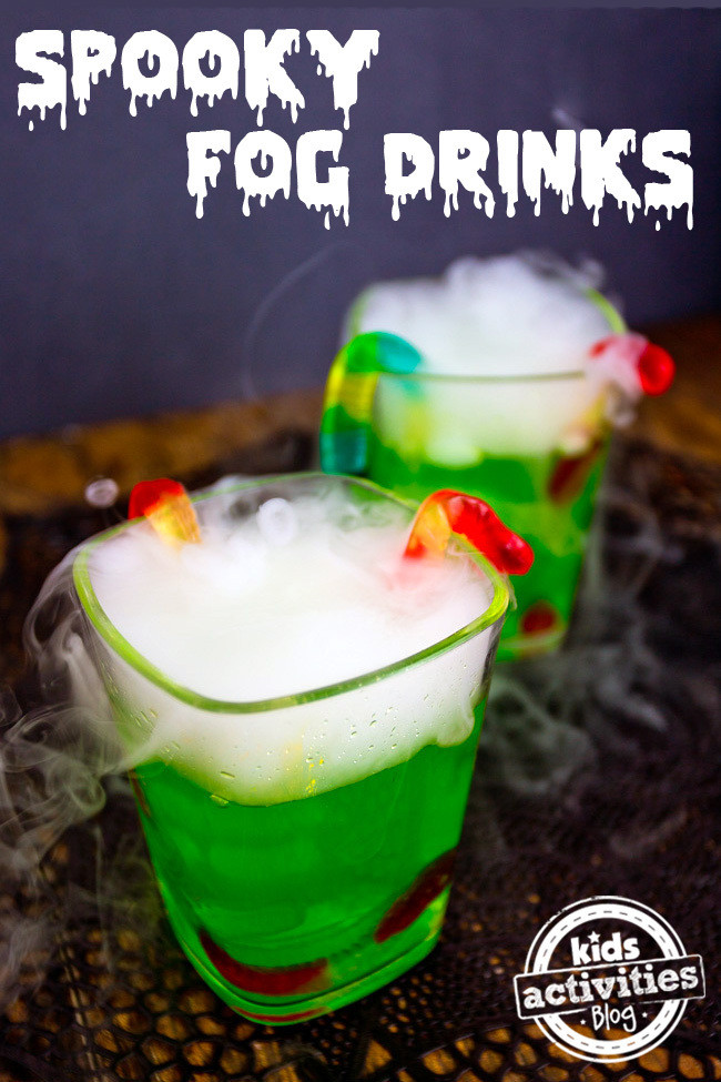 Halloween Drinks For Kids  Halloween Party Drink Spooky Fog Drinks