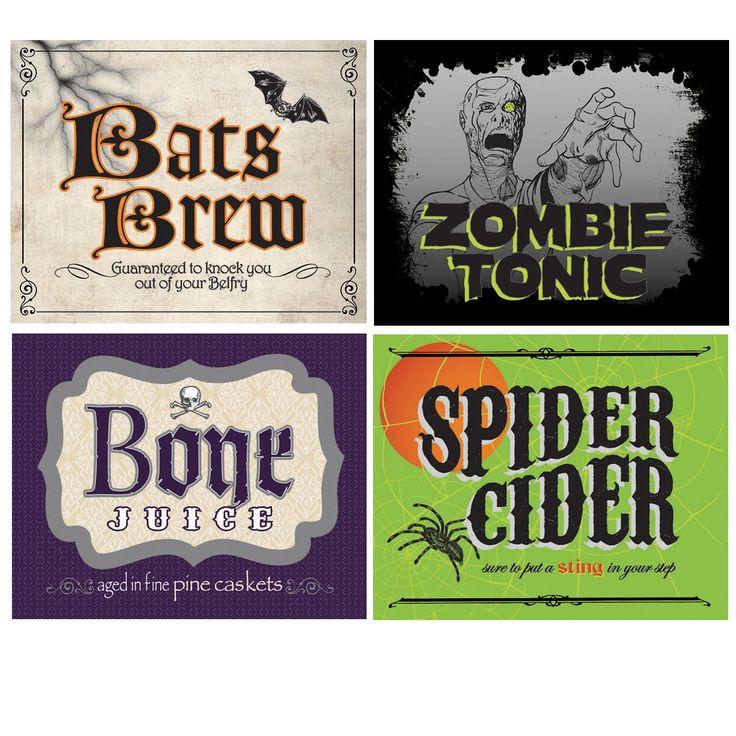 Halloween Drinks Labels  Shocktails Drink Bottle Labels 4