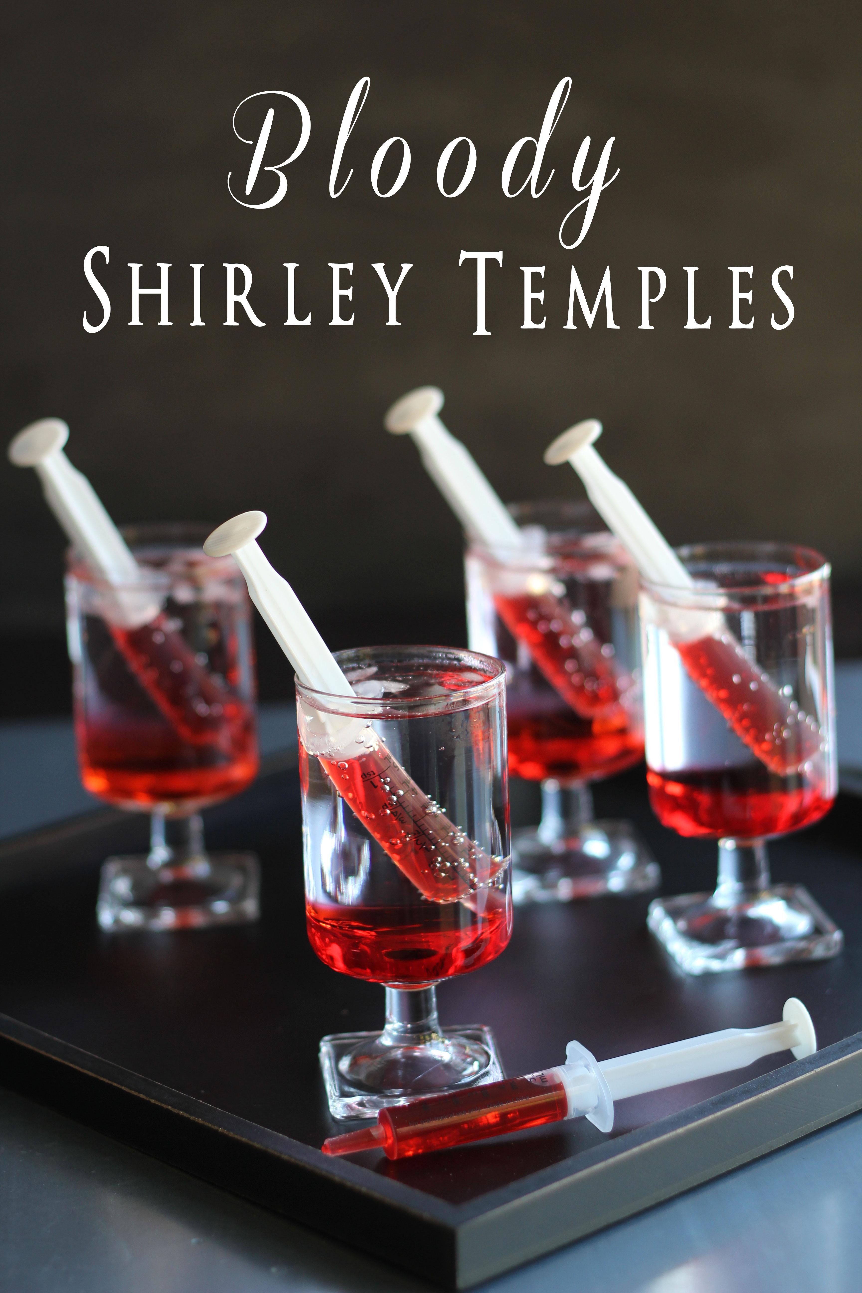 Halloween Drinks Pinterest  Bloody Shirley Temples TGIF This Grandma is Fun