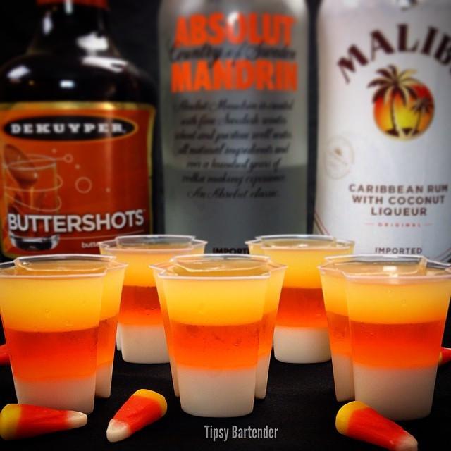 Halloween Drinks Tipsy Bartender  EZ Squeeze Candy Corn