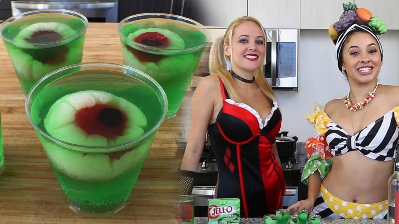 Halloween Drinks Tipsy Bartender  Halloween Eye Ball Jello Shots Tipsy Bartender
