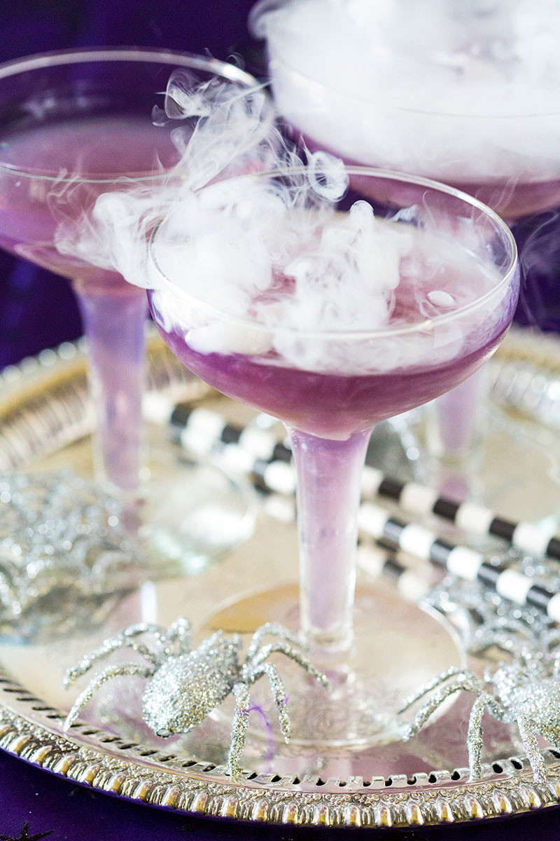Halloween Drinks With Dry Ice  Sassy Witch s Brew Cocktail for Halloween