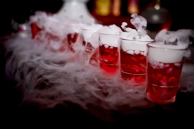 Halloween Drinks With Dry Ice  Love Potion 10 Mysterious with dry ice