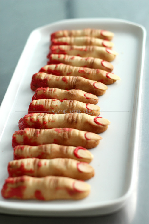 Halloween Finger Cookies  Zombie Finger Cookies