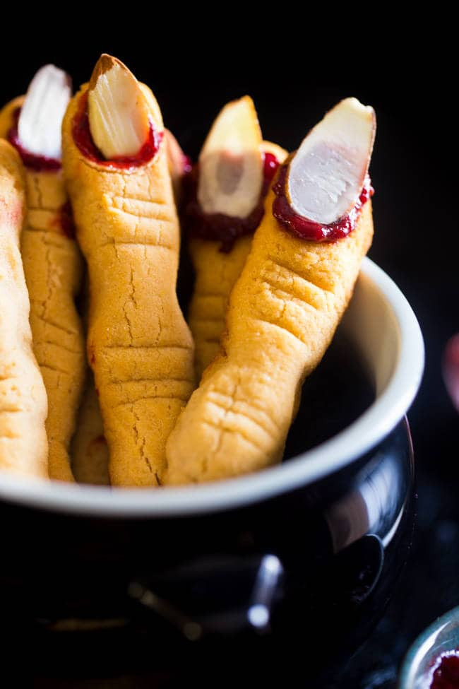 Halloween Finger Cookies  Paleo Witch Finger Cookies Vegan