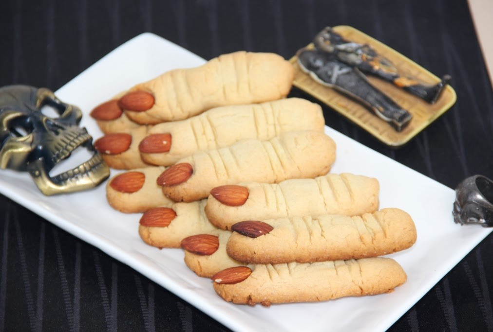 Halloween Finger Cookies Recipes  Spooky Witch Finger Cookies Halloween Cookies Butter
