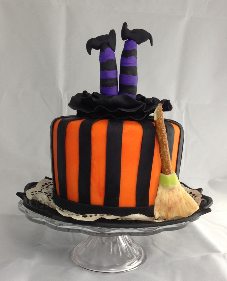 Halloween Fondant Cakes  Halloween Witch Cake CakeCentral