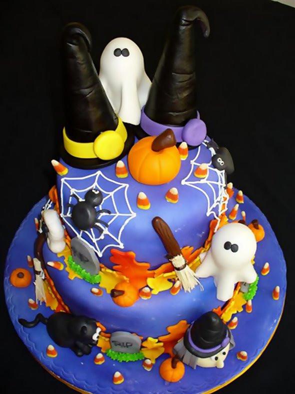 Halloween Fondant Cakes  Valentine e Halloween Cakes