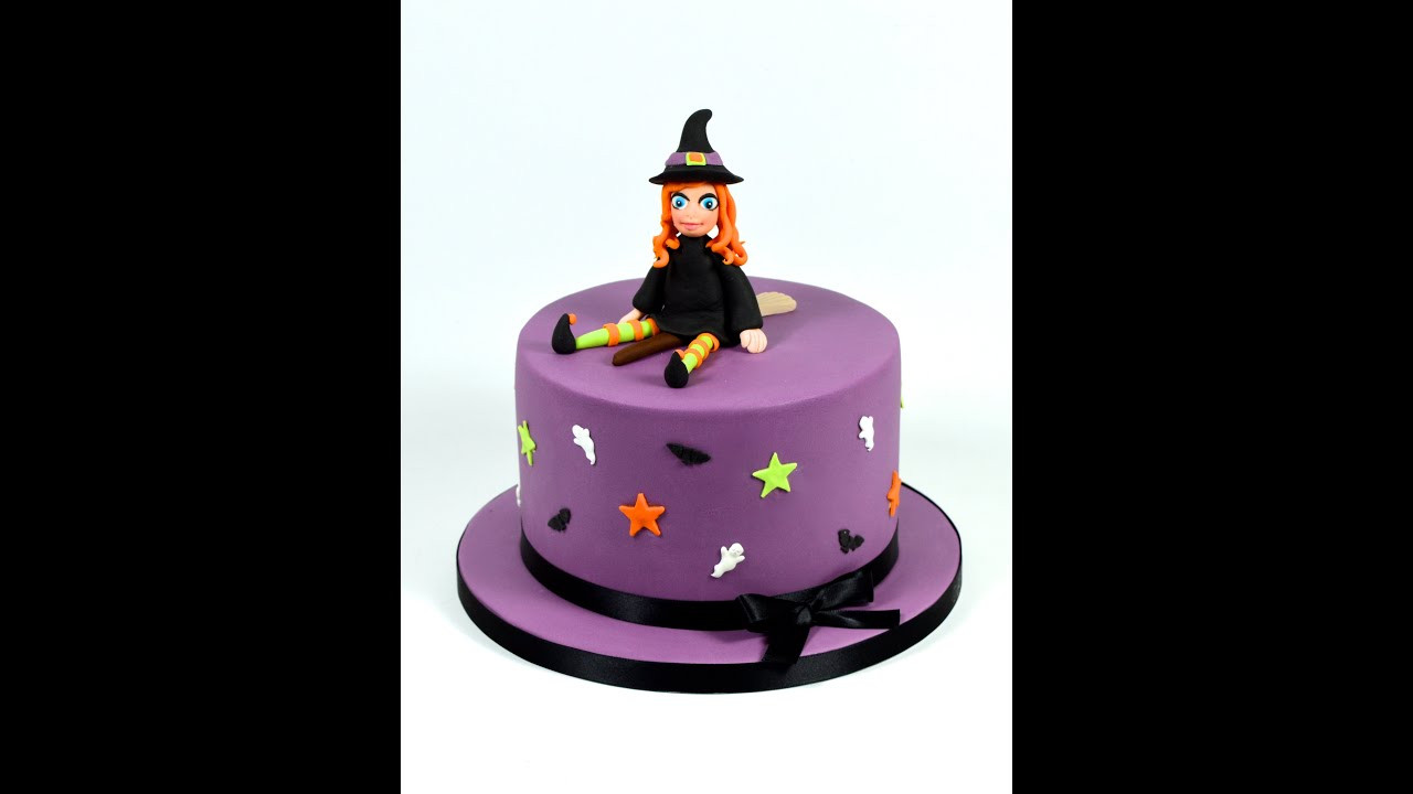 Halloween Fondant Cakes  How to Make a Halloween Witch Novelty Cake Decorating